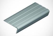 Testeira de degrau antiderrapante em PVC Flexível